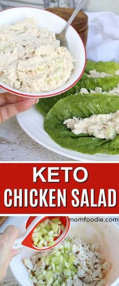 Keto Chicken Salad Recipe - a Low carb copycat of Willow Tree Chicken Salad reci. Keto Chicken Salad Recipe - a Low carb copycat of Willow Tree Chicken Salad recipe - Salat Rezepte Salad Recipes Low Carb, Diet Recipes, Healthy Recipes, Lunch Recipes, Recipes Dinner, Smoothie Recipes, Dessert Recipes, Steak Recipes, Cooker Recipes