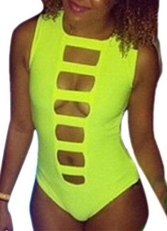 Introducing Happy Sailed Women Cool Summer Mansion Neon Onepiece Swimsuit Prime Small Green. Great product and follow us for more updates!