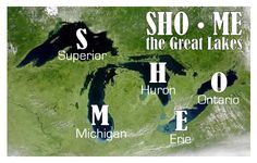 How to memorize the names of the Great Lakes. I love simple tips like this. From @Joy Miller of fivejs.com