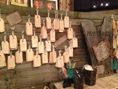 prayer wall? or use large tags in addition to the postcard encouragement notes?
