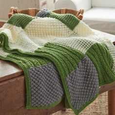 You don't have to be a professional knitter to take on the Textured Afghan. With the use of three basic stitches, this knit blanket pattern is a perfect for the beginner knitter looking for his or her first long-term knitting project.