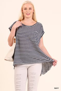 d01191c22ad59 Umgee-WC109 Black white striped tunic available at Trees n Trends Black  White Stripes