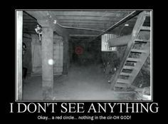 Zoom in to the circle, then zoom out and then you will see it. It actually made me jump!