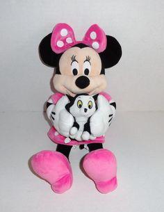 Disney Minnie Mouse Plush & Figaro Cat #disney #minniemouse #kids