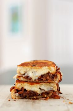 French Onion Soup Grilled Cheese  Made this, and it is delicious.  Takes a while to make but oh so worth it.