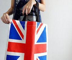 Tote Bags Union Jack Flag Punk Rock UK by SoYouThinkYouCanRock