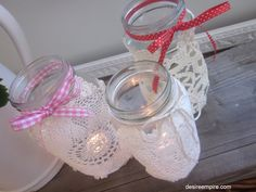 Vintage Doily Lanterns and Bunting and I'm Interviewing for My Very Own Housewife