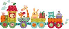 Vinilo infantil | El tren risitas corto Baby Bug, Animal Doodles, Boy Cards, Clip Art, Collage Design, Cute Clipart, Class Decoration, Kids Wall Decals, Kids Patterns