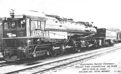 A 4-8-8-2 Southern Pacific AC 6 Cab Forward locomotive number 4126