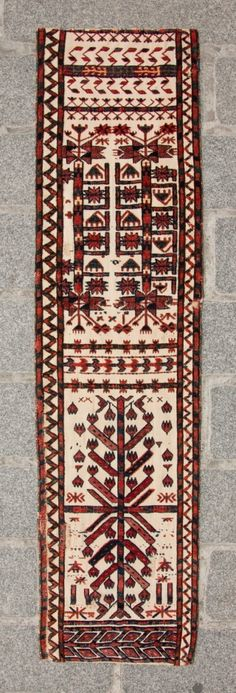Turkmen Tent Band Fragment 124 x 31 cm