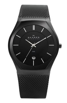 Skagen Round Mesh Strap Watch available at #Nordstrom