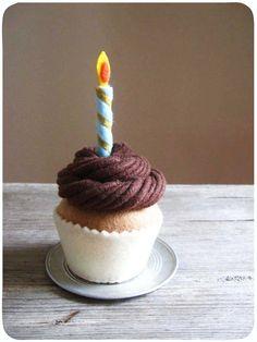 Felt Make A Wish Cupcake