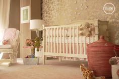 Sweet and chic little girl's nursery by Tidbit du Jour