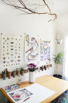 THIS diy wall mount for the office!!! | Caitlin & Dave's Oakland Apartment of Wonder & Oddities
