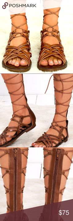 ed66f5a0b41 MIA Heritage Brown Leather Lenora Gladiator Sandal Super cute MIA Heritage  brown luggage leather gladiator Lenora