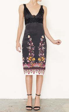 Roberto Cavalli Black And Pink Multicolored Dress