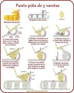 Puntos Basicos de Crochet Esquemas a Imprimir