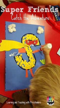 Is it a bird?  Is it a plane?  No it is Super S!  We have been having a super week of Super Friend Fun.