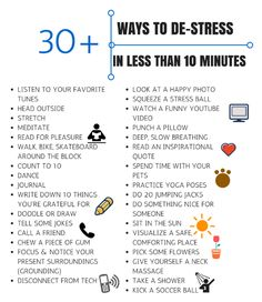 Are you suffereing from stress recently? Learn these 30 ways to de-stress quickly. #stress #tips