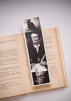 Edgar Alan Poe Bookmarks by Bookmarklovers on Etsy
