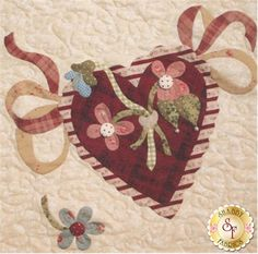 Vintage Valentine - Block 11 Kit: **Please note, this kit is for Block 11 only.** Block 11 of Vintage Valentine using fabrics from Mrs. March's fabrics as shown. Block finishes to approximately 14