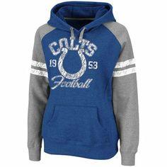 Indianapolis Colts Ladies Royal Blue Huddle Pullover Hoodie Sweatshirt