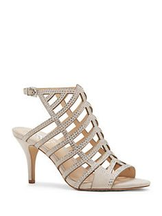 Vince Camuto - Leather Mid-Heel Sandals