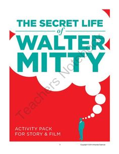 """""""The Secret Life of Walter Mitty"""" Activity Pack from Open Classroom on TeachersNotebook.com -  (20 pages)  - Students take a peek into Mitty's """"secret life"""" in this CCSS aligned set that includes general analysis questions, an armchair psychologist assignment, a text structure analysis activity, a story and film comparison assignment, and an essay"""