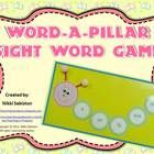 Students build a caterpillar as they practice sight words!   $