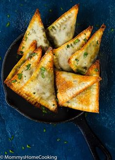 Mushroom and French Goat Cheese Triangles. Oh my gorgeous I can wait to try these tantalizing treats. Yum