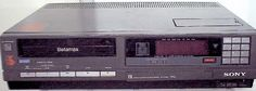 Sony Betamax C30. My old betamax video player.