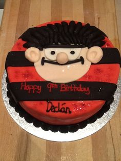 My Son's Dennis the menace cake.