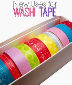 New Uses for Washi Tape | www.inspirationfo... #newusesforthings #washitape