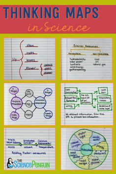 Using Thinking Maps in Science- examples, photos, and ideas