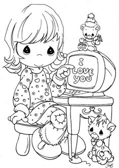 Child on comp. - Precious Moments coloring pages. Cute Coloring Pages, Christmas Coloring Pages, Animal Coloring Pages, Coloring Pages To Print, Adult Coloring Pages, Coloring Pages For Kids, Coloring Books, Coloring Sheets, Precious Moments Coloring Pages