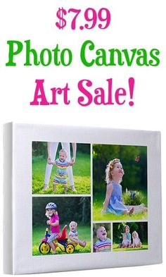 Personalized Photo Canvas Sale! {these make the BEST presents and such treasured Home Decor pieces!}