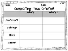 Comparing 2 Stories RL.3.9 FREEBIE
