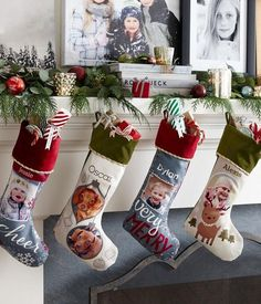 Get ready for the 2015 holiday season with personalized stockings to hang on the mantel. | Shutterfly