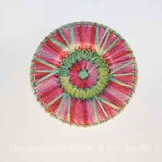 Handmade mandala flower for christmas ornament, coaster, pendant, dreamcatcher or wall decoration.  Decorate your christmas tree with this unique