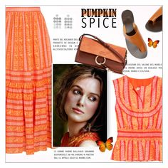 """""""Monochrome: Pumpkin Spice"""" by alves-nogueira ❤ liked on Polyvore featuring Tory Burch, Saskia Diez, ATP Atelier, Marni, Chloé, orange, polyvoreeditorial, pumpkinspice and summer2017"""