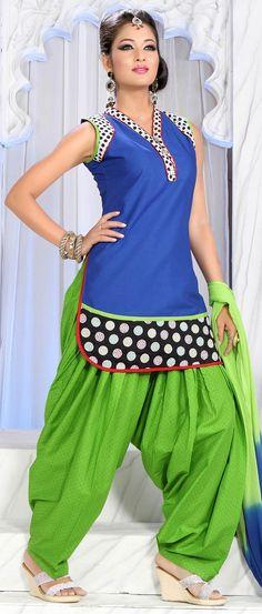 #Blue #Cotton Readymade #Salwar Suit @ $57.69 | Shop @ http://www.utsavfashion.com/store/sarees-large.aspx?icode=kdu122