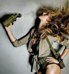 100 Combat-Ready Fashion Shoots - From Seductive Soldier Editorials to Androgynous Military Models (CLUSTER). Love the pose. inspirational for my shoot