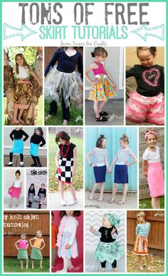 FREE skirt tutorials for girls - Sugar Bee Crafts