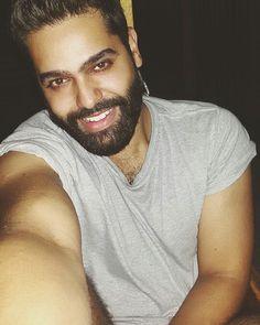 #boy #man #handsome #cute #guy #smile #selfie #beard #pic