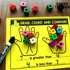 Top Ten Everyday Living Insurance Plan Misconceptions Grab, Count And Compare 2 Quantities Numbers Kindergarten, Kindergarten Math Activities, Math Numbers, Preschool Math, Math Classroom, Fun Math, Teaching Math, Math Games, Kindergarten Tables