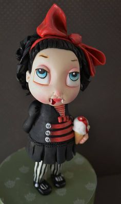 The Little Vampire Cake Topper