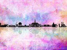 Skyline von Kassel  Ein Traum in rosa...