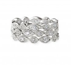 Love these stackable rings from Stella & Dot for some extra (and inexpensive!) wedding day bling