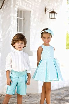 Boy Girl Twin Outfits, Flower Girl Outfits, Little Boy Outfits, Family Outfits, Toddler Girl Dresses, Kids Outfits, Sewing Kids Clothes, Baby Sewing, Baby Boy Shirts