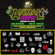 Stormy Vault's Animal Show - Designer Toys Show... launching September 19th, 2020! #Artists #CustomVinyl #facebook #GroupShow #SpankyStokes
